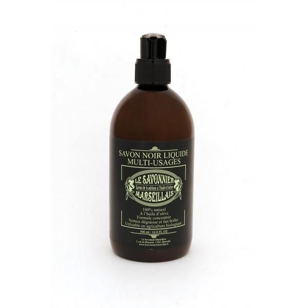 Savon noir multi usages 500 ml naturel l 39 huile d 39 olive - Insecticide savon noir bicarbonate ...