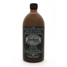 Savon noir liquide 1 litre à l'eucalyptus