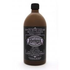 Savon noir liquide 1 litre parfum lavande