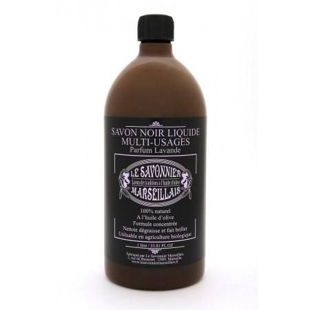 savon noir liquide 1 litre parfum lavande le savonnier marseillais. Black Bedroom Furniture Sets. Home Design Ideas