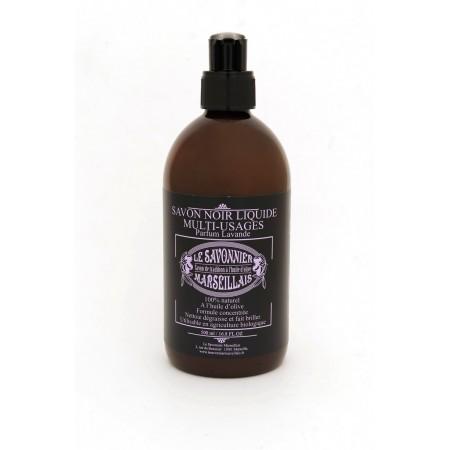 Savon noir liquide parfum lavande 500 ml
