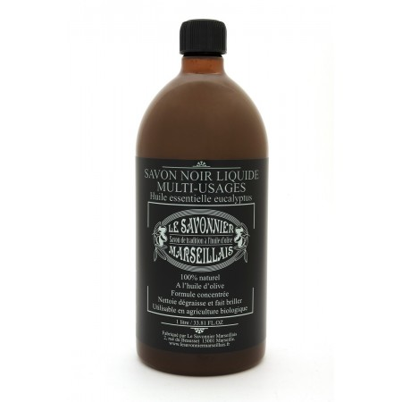 1 liter Eucalyptus Savon Noir Liquid Soap